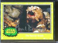 Paul Brooke Rancor Signed Topps Star Wars Card Authentic Autograph Auto *2