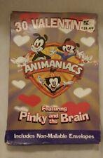 Vtg 1997 Animaniacs Pinky and the Brain 30 Valentine Card Paper Magic NIB