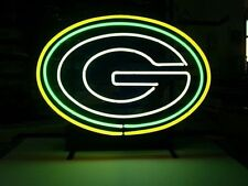 """New Green G Letter Real Glass Tube Neon Light Sign Art Garage Pub Sign 16""""x14"""""""