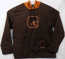 AND1 Basketball Hooded Pullover Mens L Brown & Copper Basketball Player Graphic