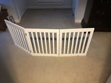 Free-Standing X-Wide Indoor Dog & Pet Expandable Safety Gate - White