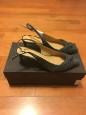 Banana Republic Knotted Slingback Heels Color Anthracite Size 6.5