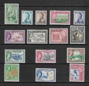 1954-1959 SET FIJI POSTAGE STAMPS SG 280-323 - MLH COMMONWEALTH - ELIZABETH II.
