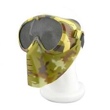 AirSoft Full Face Guard Mesh Mask Goggles Multicam