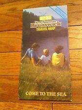 1987/1988 New Nouveau Brunswick Travel Map Come To The Sea Canada Tourist RARE