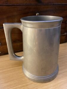 A VINTAGE PEWTER BEER TANKARD FROM THE ROYAL COLOMBO YACHT CLUB SRI LANKA