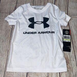 Under Armour 4 5 6 7 White Black Rash Guard UPF Swim Shirt NEW