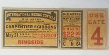 1924 Carpentier vs Gibbons Full Ticket Boxing Heavyweight Bout