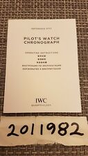 IWC Watch Manual Instruction Booklet for Pilot Chronograph 3777 Ver.2014
