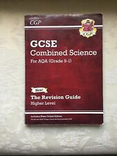 gcse revision book 9-1 COMBINED SCIENCE AQA HIGHER  LEVEL