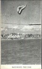 Swimming/Diving - Backward Pike Dive Vintage Postcard