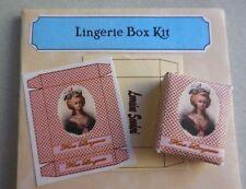 DOLLHOUSE MINIATURE ~ LINGERIE BOX KIT ~ by LORRAINE SCUDERI