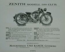 Zenith Modell 500 Club Swedish Market original prospekt Sales Leaflet / brochure