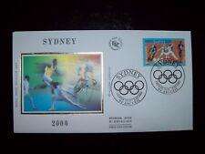 2000_ENVELOPPE 1er JOUR_FDC_SOIE_JEUX OLYMPIQUES DE SYDNEY.
