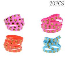 20X Silicone Bracelet Emoji Silicone Wristbands Bracelets Kids Party Supplies