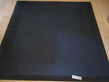 "NEW 9 Piece 55"" Square ANTI-FATIQUE Black BEVELED RUBBER Heavy Duty Floor MAT"