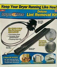 Dryer Max Dryer Lint Removal Kit 3 Piece Set Clean Other Ductwork - New/Sealed