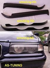 """Scheinwerferblenden """"BÖSER BLICK"""" obere+untere für BMW E36 coupe/cabrio + Kleber"""