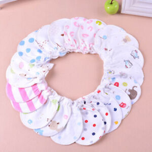 6Pair Infant Anti-scratch Mittens Cotton Baby Gloves Warm Months For 0-6 5 R4F1
