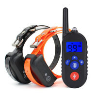 330 Yards Electric Remote Pet Dog Training Shock Collar Waterproof Rechargeable