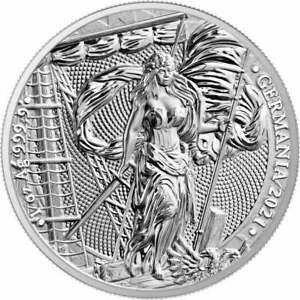 GERMANIA 2021 - 5 Mark 1 oz Pure Silver Brilliant Uncirculated Round in Capsule