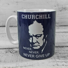 NEW WINSTON CHURCHILL QUOTE NEVER GIVE UP GIFT MUG CUP PRESENT WW2 WORLD WAR 2