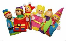 King Queen Prince Royal finger puppets, Story telling Nursery Rhymes Fairy tales