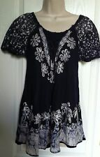 "Women's Cute Summer Dress Top Tunic Top Blouse Top Chest Size 34"" Around New"
