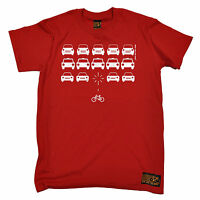 Bike Space Invaders T-SHIRT tee cycling jersey bike cycle funny birthday gift