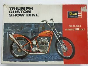 Vintage Revell Triumph Custom Show Bike Kit 1/8 **Part-Built**