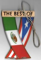 Mexico and Puerto Rico Rear view mirror mini flags for the car Unity Flagz