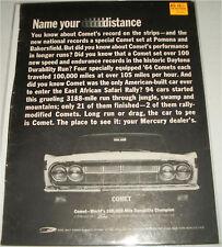 1964 Mercury Comet car ad