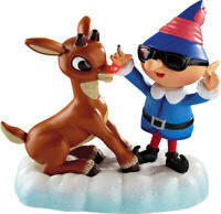 Carlton Magic Ornament 2012 Rudolph The Red Nosed Reindeer with Elf - #CXOR043B