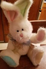 Genuine Boyds bunny Egglebert white pastels paws bow