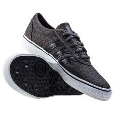 ADIDAS — Adi-Ease Shoes Charcoal Gray, Black Pattern, White Gum — Men's Size 7.5