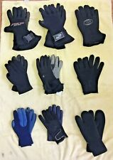 5 FINGER GLOVES 8 PAIR & 1 PAIR of MITTENS - 9 TOTAL PAIR - AS PICTURED