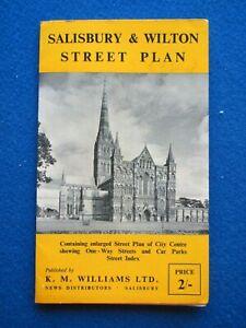 Salisbury & Wilton  Fold-Out Street Map - 1965
