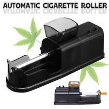 Electric Automatic Cigarette Rolling Machine Tobacco Roller Injector Maker Black