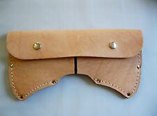 Double Bit Axe Sheath Top Grain Leather 3.5 + lbs. Full size USA Made!