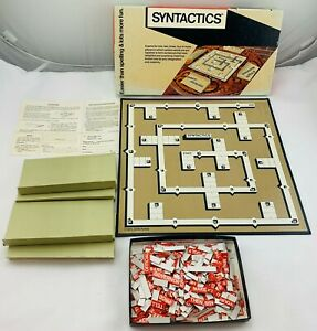 1973 Syntactics Game by John Flagg Complete in Great Condition FREE SHIPPING