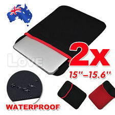 """2X Laptop Case Sleeve Bag Cover For 15""""-15.6"""" Dell Inspiron ASUS ACER Waterproof"""