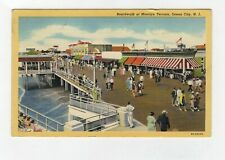 Boardwalk At Moorlyn Terrace Ocean City New Jersey Vintage Linen Postcard A2