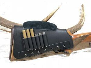 Leather Rifle Buttstock Cover Butt Stock Holder Cheek Rest - Long Range Shooting