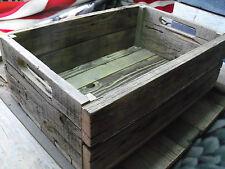 Reclaimed BarnWood Crates Shelf Media Storage CD's DVD Rustic Urban Decor Wooden