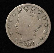 1885 Liberty Nickel, Full Rim Obverse, Full Date