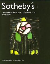 Sotheby's WO4813 Decorative Arts Designs Part II London Auction Catalog 2004