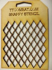 Wargames Marines Guard Eldar Imperial Diamond Harlequin Grid Snappy Stencil #15