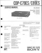 Sony Original Service Manual per CDP-C 79 ES-C 89 es