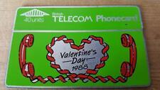 Vintage 1988 British Telecom BT Valentines Day Phone Card