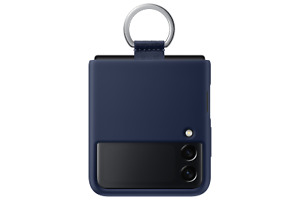 Samsung Galaxy Z Flip3 Navy Silicone Cover with Ring